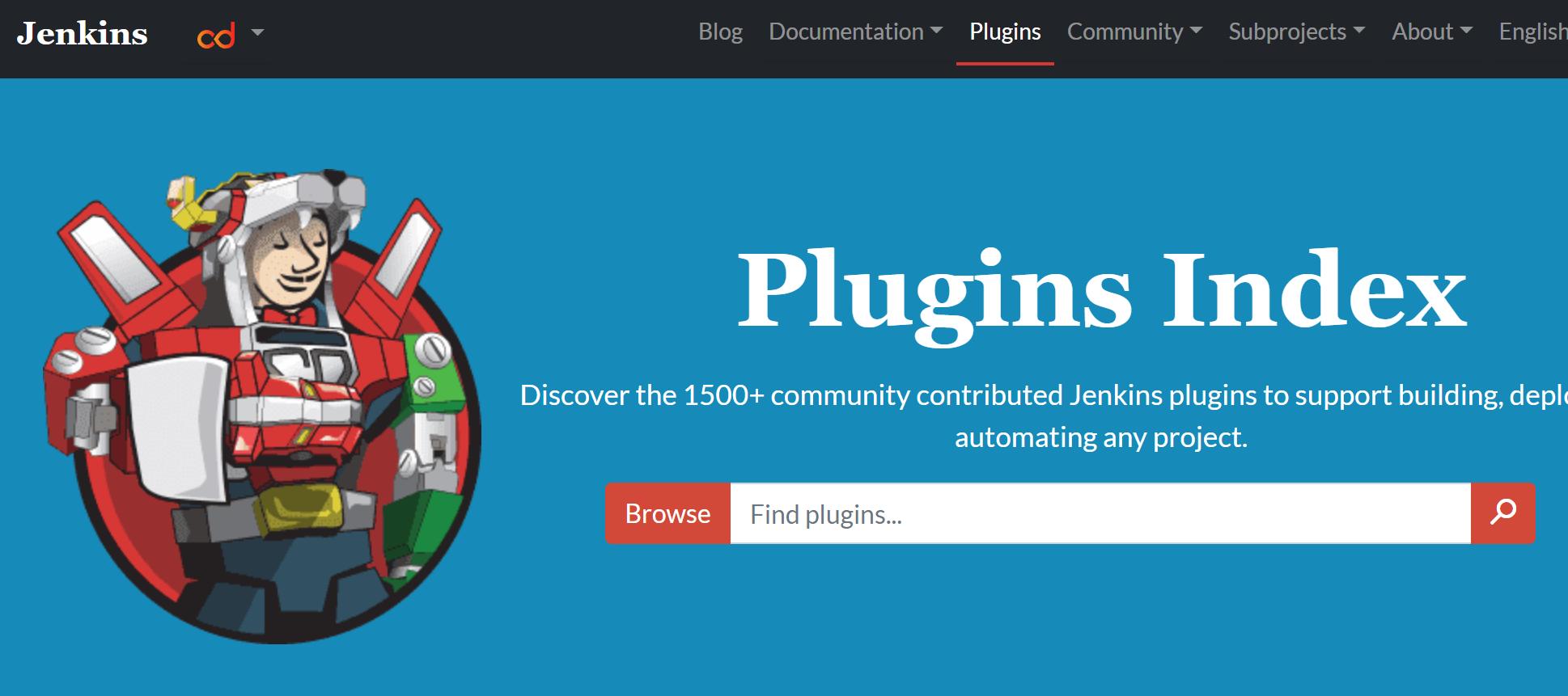 Jenkinsのプラグインページ
