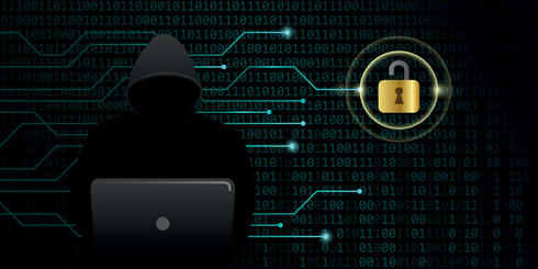 hacker cracks secure digital data connection binary code background vector illustration EPS10