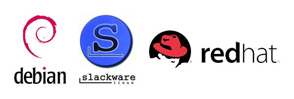 debian slackware redhat